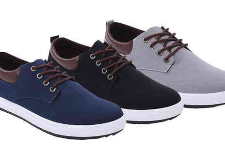 Black Sheep - Mens Canvas Shoes Three Colours - Save 76%