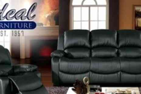 Ideal Furniture - Two Recliner Chairs and Three Seater Sofa - Save 56%