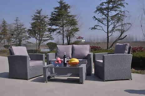Dreams Living - Four seater rattan garden furniture set - Save 69%