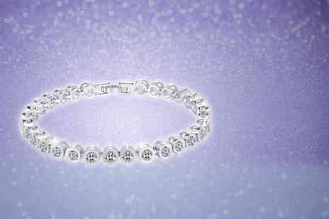 Your Ideal Gift - Rhodium plated simulated sapphire bracelet - Save 87%