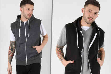 Be Jealous - Sleeveless mens gillet hoodie choose from six colours - Save 67%
