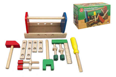 Ckent - Wooden tool box toy - Save 61%