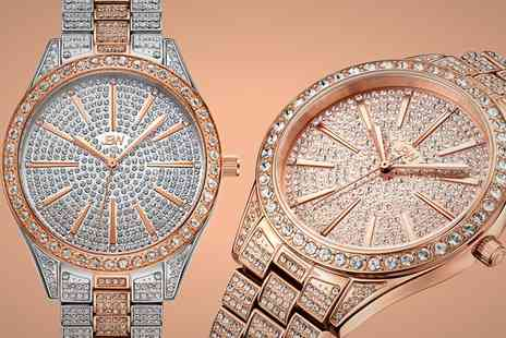 Groupon Goods Global GmbH - JBW Womens Diamond Watch with Crystals from Swarovski - Save 57%