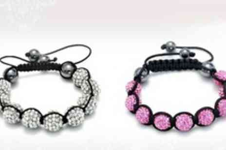 Gifts4u - Crystal Shamballa style Disco Ball Bracelet - Save 75%