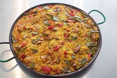 Sabrosa - Choice of Paella with Dessert and Soft Drink for Up to Eight - Save 37%