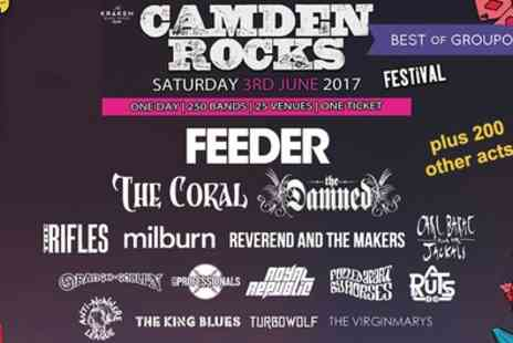 Camden Rocks Festival - Ticket to Camden Rocks Festival 2017 on 3 June - Save 12%