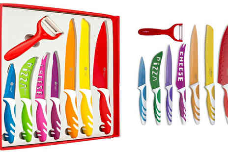 Home Decor Online - 6 or 8 Piece of Colourful Knife Set - Save 67%