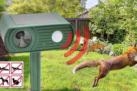 Snap One Up - Ultrasonic Solar Powered Animal Repeller - Save 77%