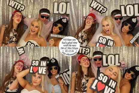 Tom Foolery Photo Booth - Two hours of photo booth hire including prop hire and a DVD with all images - Save 53%