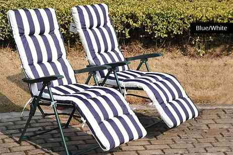 MHStar Uk - Two superior comfort deck chairs - Save 69%