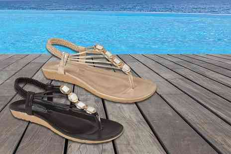 GB Gifts - Pair of jewelled sandals - Save 66%