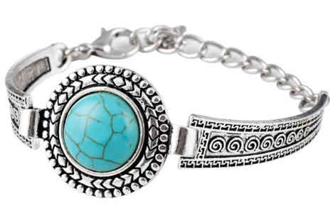 Alvis Fashion - Tibetan style silver plated bangle - Save 88%