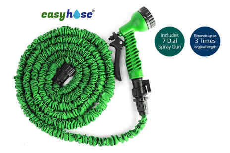 Groundlevel - 50ft or 100ft expanding garden hose - Save 60%