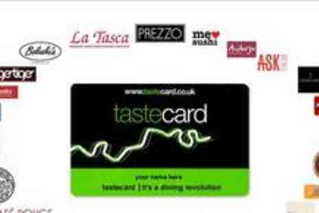 Taste Marketing - Annual subscription to tastecard - Save 50%