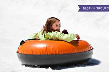 Swadlincote ski centre - Sno Tubing and Two Toboggan Rides with Optional Pizza for Two or Four - Save 55%