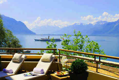 Royal Plaza Montreux & Spa - Five Star Panoramic Views of Lake Geneva For Two - Save 78%