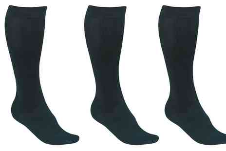 Groupon Goods Global GmbH - Two, Four or Six Pairs of Compression Socks - Save 73%