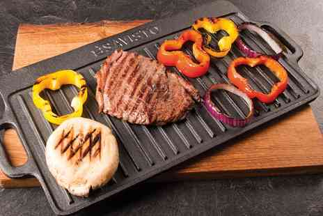 Groupon Goods Global GmbH - Savisto Cast Iron Reversible Griddle Plate - Save 36%