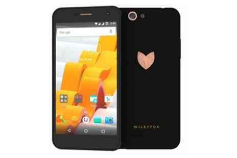 Groupon Goods Global GmbH - Wileyfox Spark X Black Dual SIM Smartphone With Free Delivery - Save 12%