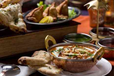 Kavils Restaurant & Bar - Two Course Indian Meal with Wine for Two - Save 63%