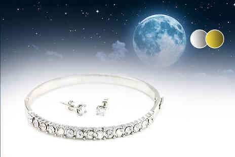 Bijou Amour - Moonbeam bracelet and earrings set - Save 82%