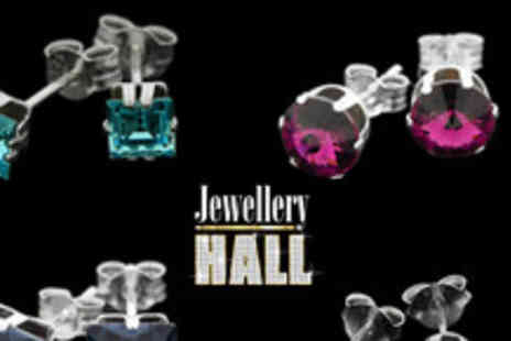 Jewellery Hall - Pair of Swarovski crystal and sterling silver earrings in a range of colours & styles - Save 67%