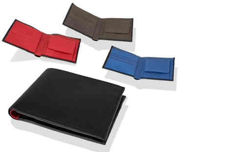 Woodland Leathers - Leather contrast wallet - Save 65%