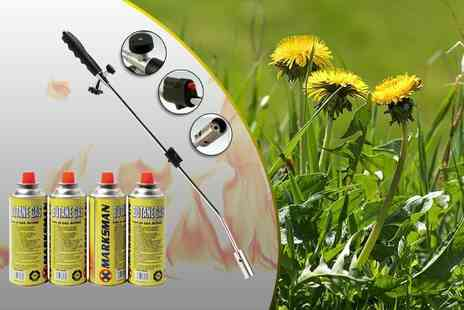 Direct2Public - Weed burner with four gas canisters - Save 84%