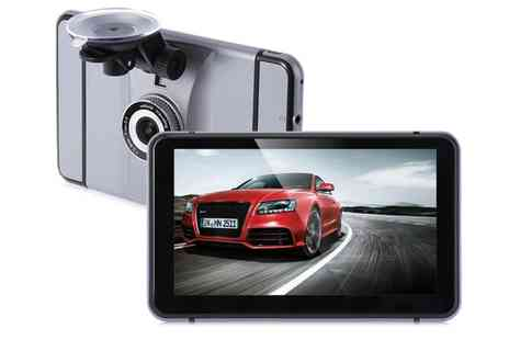 Groupon Goods Global GmbH - GPS Navigator with Rearview Camera - Save 46%