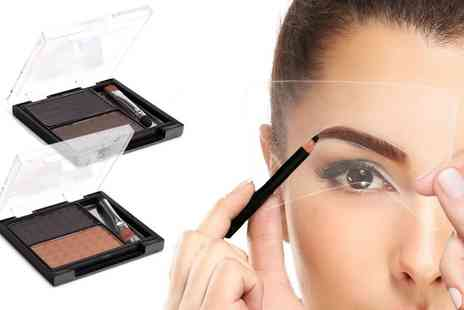 Groupon Goods Global GmbH - One or Two Eyebrow Kits with Stencils - Save 77%