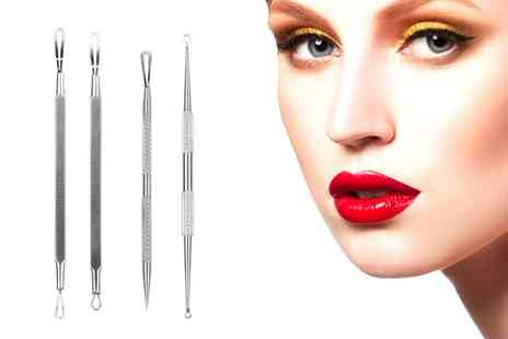 Groupon Goods Global GmbH - Four Piece Blemish Extractor Set - Save 74%