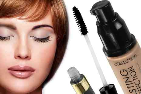 Groupon Goods Global GmbH - Collection Foundation With Colour Lash Mascara in Cool Beige, Warm Beige or Golden - Save 69%