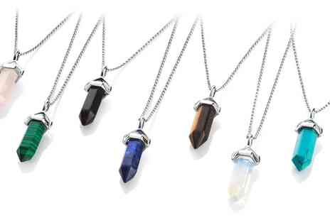 Groupon Goods Global GmbH - One or Two Gemstone Necklaces - Save 83%
