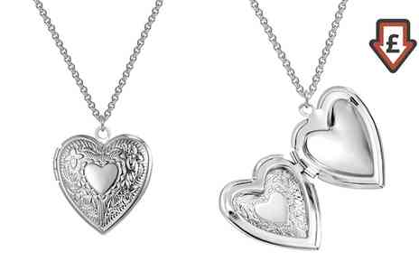 Groupon Goods Global GmbH - Philip Jones Heart Locket in Gift Box - Save 81%