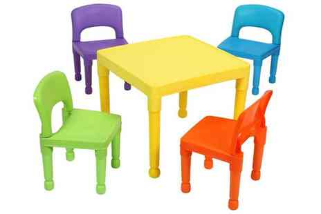 Groupon Goods Global GmbH - Kids Multicoloured Table and Four Chairs Set - Save 8%
