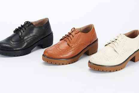 Groupon Goods Global GmbH - Womens Leather Brogues - Save 73%