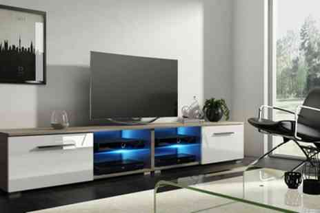 Groupon Goods Global GmbH - Tenus TV Cabinets with Optional LED Lighting With Free Delivery - Save 64%