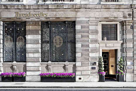 Threadneedles Hotel - Five Star Esteemed 19th Century Hotel Stay For Two near St. Pauls Cathedral - Save 66%