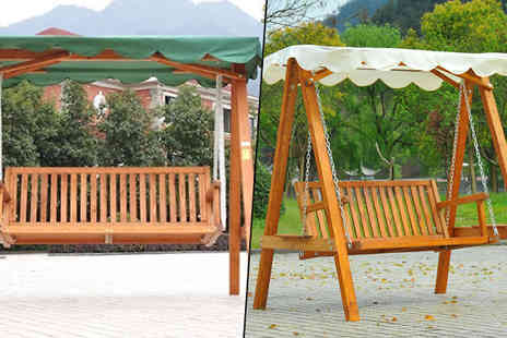 MHStar Uk - Garden Swing Bench Lounger Choose Three Designs - Save 53%