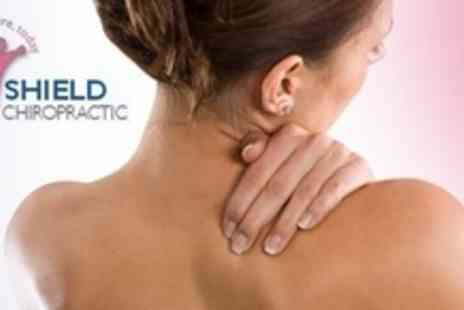 Shield Chiropractic - Two Deep Tissue Massages and Chiropractic Inversion Therapy Sessions Plus Consultation - Save 73%