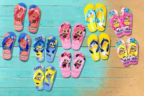 Prees Village Stores - Two pairs of kids flip flops choose from nine designs - Save 67%