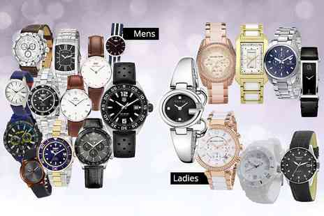Brand Logic - Mystery watch for him or her from Tag Heuer, Gucci, Michael Kors, Daniel Wellington, Breo, Armani, Calvin Klein, Boss and more - Save 0%