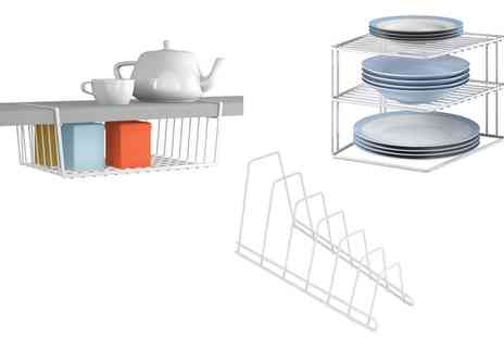 Groupon Goods Global GmbH - Metaltex Kitchen Cupboard Storage Bundle - Save 0%