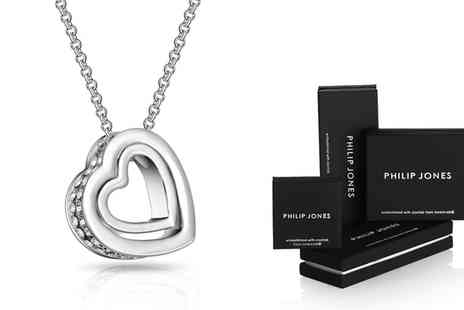 Groupon Goods Global GmbH - Philip Jones Double Heart Necklaces with Crystals from Swarovski - Save 81%