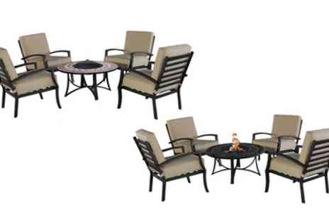 Groupon Goods Global GmbH - Mathilda or Violetta Fire Pit Furniture Sets - Save 50%
