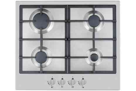 Groupon Goods Global GmbH - Ferretti 60cm Four Burner Stainless Steel Gas Hob With Free Delivery - Save 33%