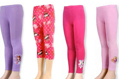 House Warehouse - Pack of Two Disney Character Leggings Choose Three Lengths - Save 67%