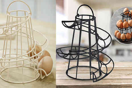 comxuk - Spiral Egg Holder Choose from Two Colours - Save 88%