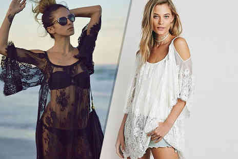 Who Runs the World - Cold shoulder lace beach dress - Save 77%