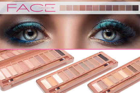 Smile Science - Three 12 shade Face London Exposed eye shadow palettes - Save 88%